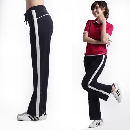 【遊遍天下】 台灣製女款吸濕排汗長褲(黑 L-XL) (品特)