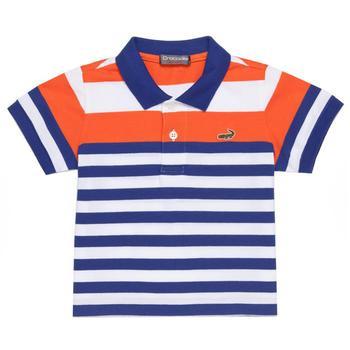 『小鱷魚童裝』網眼條紋POLO衫(02號~10號)365103