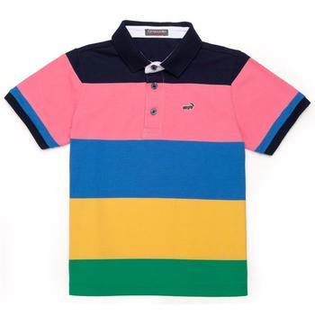『小鱷魚童裝』拼色條紋POLO衫(12號~14號)335102