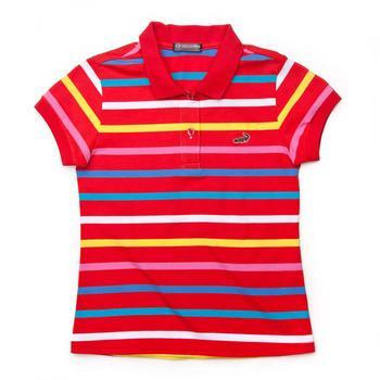 『小鱷魚童裝』網眼條紋POLO衫(08號~10號)335151