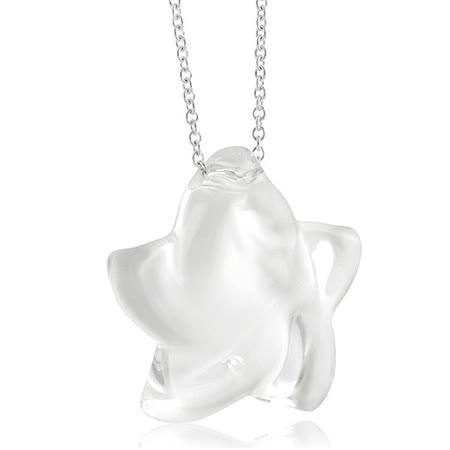 TIFFANY&Co. Elsa Peretti 大型水晶立體星星墜飾項鍊