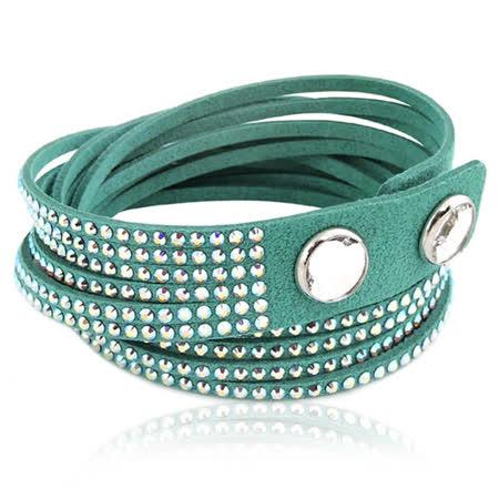 【網購】gohappySWAROVSKI Slake水晶鑲嵌手鏈/手環-綠色好嗎愛 買 桃園 店