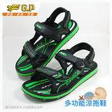 【G.P 時尚休閒兩用涼鞋】G6909M-60 綠色 (SIZE:40-44 共三色)