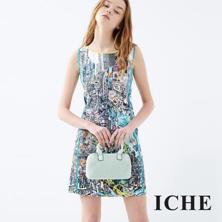 ICHE衣哲 城市數位印花洋裝