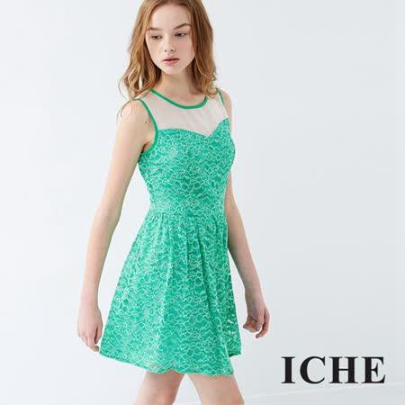 ICHE衣哲 馬甲式蕾絲造型洋裝