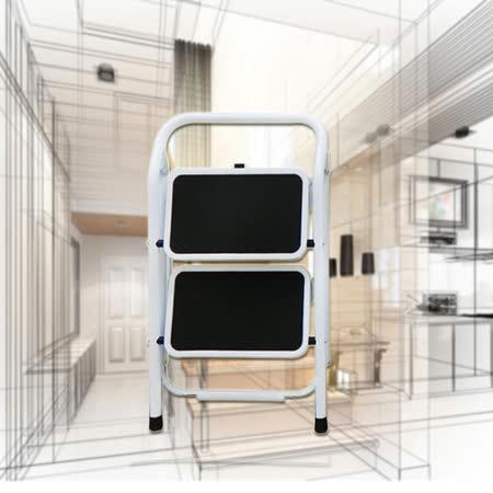 【台灣製造】高硬度鋼鐵二層折疊梯/ 家用梯/ 人字梯