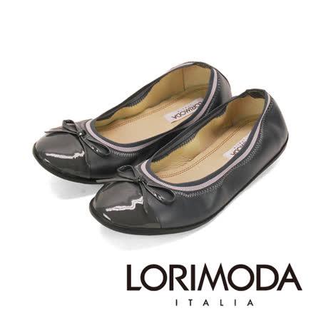 【LORIMODA】義大利手工鞋 逛街族最愛軟娃娃鞋‧透氣‧吸汗‧除臭,防滑底 ANDRIA.1-AB(深灰)