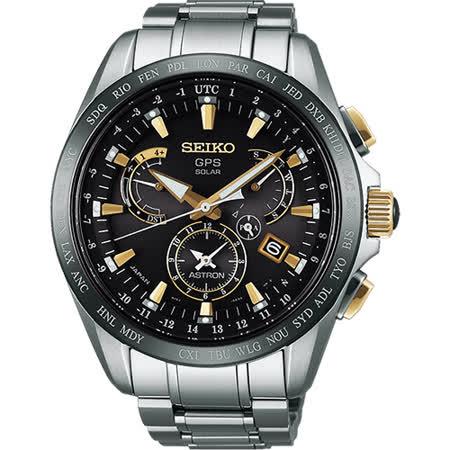 SEIKO ASTRON GPS 鈦 衛星太陽能電波腕錶-45mm 8X53-0AB0K(SSE073J1)