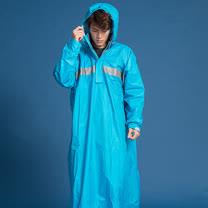 OutPerform-頂峰360度全方位太空背包雨衣(長版)-湖藍