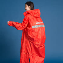 OutPerform-頂峰360度全方位太空背包雨衣(長版)-橘紅