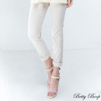 【Betty Boop貝蒂】純色鬆緊褲頭後口袋彈性長褲(共二色)