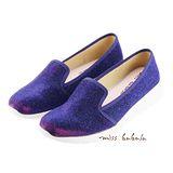 Moda Sense  輕量防滑耐磨 增高 Miss babala韓系星彩布面休閒鞋-明藍 I6S8-6302