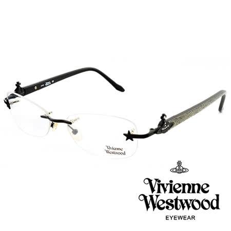 Vivienne Westwood 英國薇薇安魏斯伍德★經典浮雕造土星造型★光學眼鏡(金粉黑) VW12203