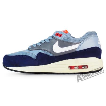 NIKE (女) 耐吉 WMNS AIR MAX 1 ESSENTIAL 休閒鞋 藍/白-599820400