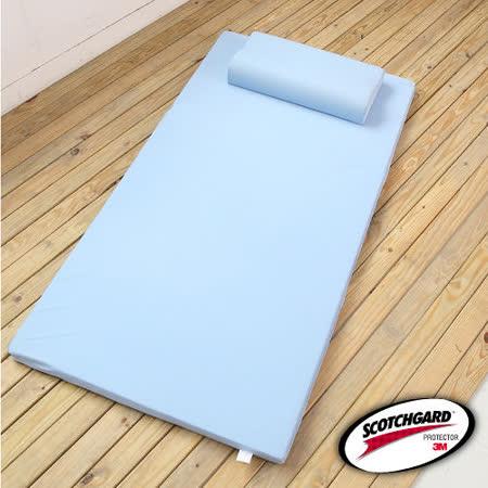 單人吸濕排汗3M透氣床墊-5公分