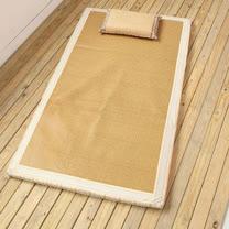 日式和風仿拉菲草抗菌涼感兩用床墊(雙人加大) 可折疊易收納,四季皆宜使用!