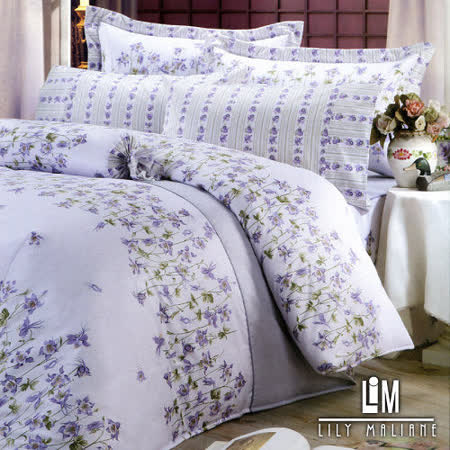Lily Malane-紛花尋芳。雙人四件式精梳純棉兩用被床包組
