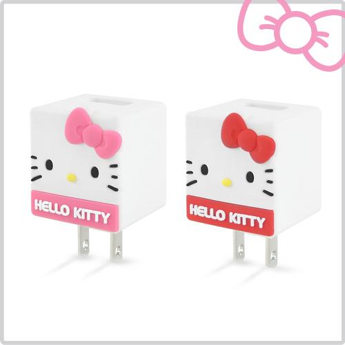 Hello Kitty 立體QQ 1A 輕巧USB充 KT~CR04