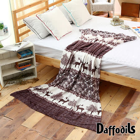 Daffodils《小鹿斑比》超纖細法蘭絨毛毯,四季保暖/極緻柔軟-200x150cm