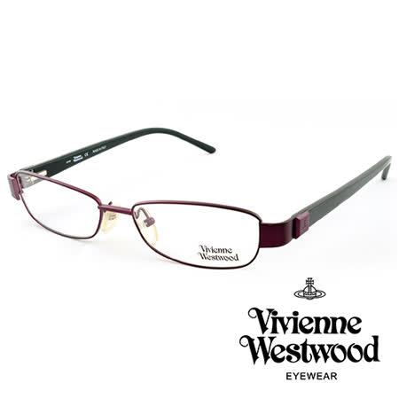 Vivienne Westwood 英國薇薇安魏斯伍德★時尚簡約土星圖案★光學眼鏡(綠+紫) VW10903