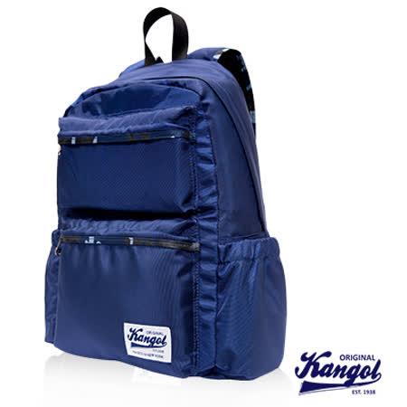 KANGOL 英國袋鼠 Adelaide迷彩系列機能時尚潮流後背包-藍色KG1111-02