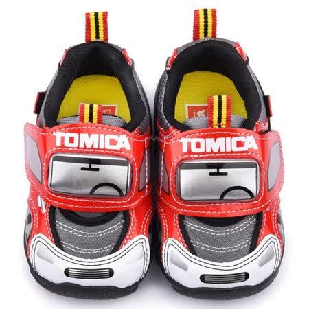 童鞋城堡-Tomica多美小汽車 中小童 帥氣電燈運動鞋TM7780-紅