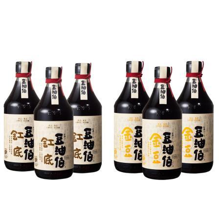 【豆油伯】金豆 / 缸底醬油(任選6入)