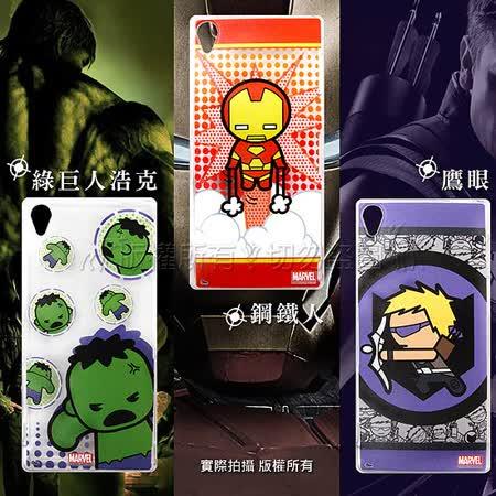 漫威 MARVEL 授權正版 復仇者聯盟 SONY Xperia Z3+/z3 plus Q版透明軟式保護套 手機殼(英雄款)