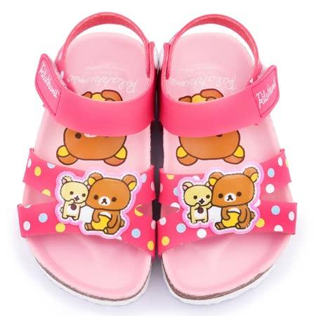 童鞋城堡-拉拉熊 中小童 超可愛軟木風格涼鞋KM3902-桃
