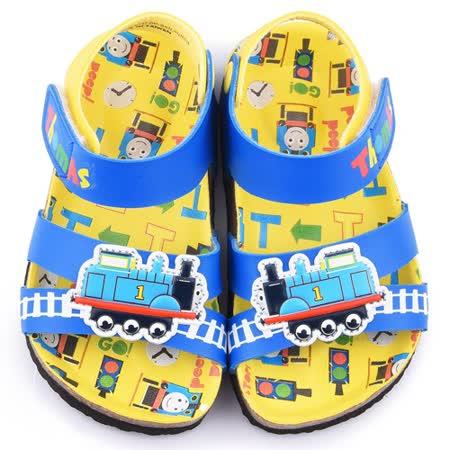 童鞋城堡-湯瑪士 中小童 小火車軟木風格涼鞋TH43018-藍