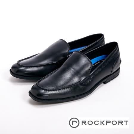 Rockport 直套半休閒尖頭男鞋-黑