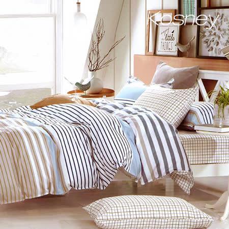 《KOSNEY 哥特風情》特大精梳棉四件式兩用被床包組