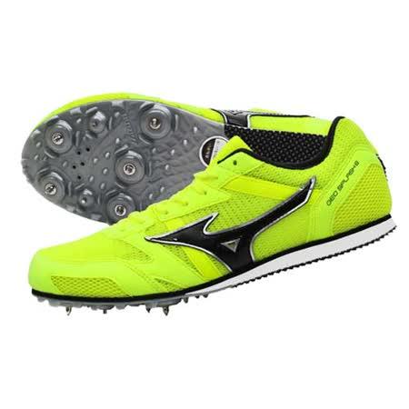 (男女) MIZUNO GEO SPLASH 6 田徑釘鞋- 中長距離 螢光黃黑