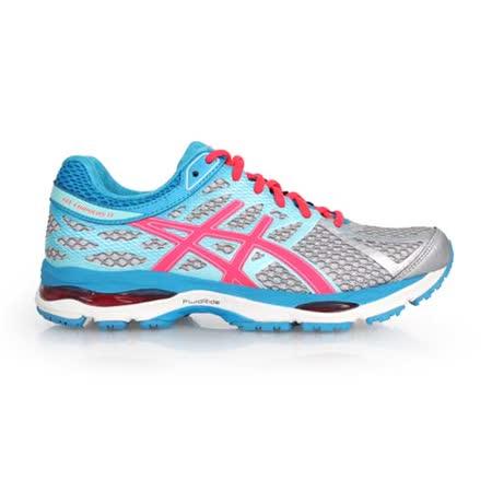 (女) ASICS GEL-CUMULUS 17 慢跑鞋- 路跑 亞瑟士 水藍桃紅灰