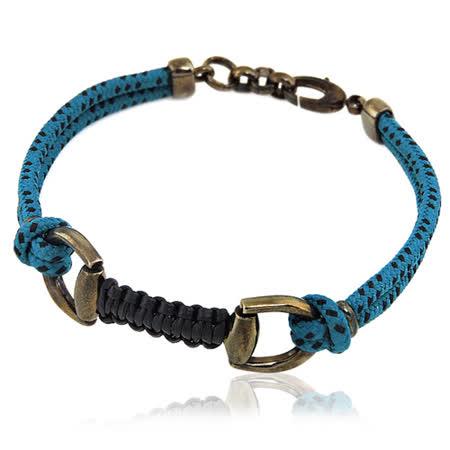 GUCCI 馬蹄環釦純銀墜飾手鍊/手環