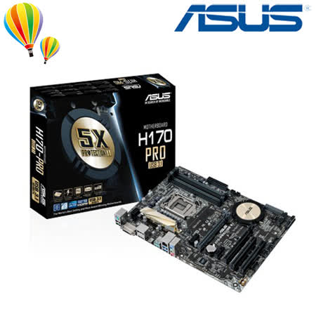 ASUS 華碩 H170 PRO/USB3.1 主機板 / 1151腳位 / DDR4