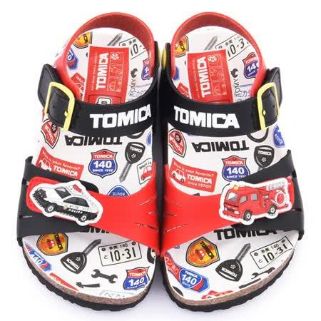 童鞋城堡-Tomica多美小汽車 中小童 軟木風格涼鞋TM3640-黑