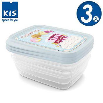 義大利KIS 棒棒糖系列食物保鮮盒組 3x1L 3入