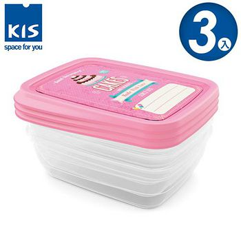 義大利KIS 蛋糕系列食物保鮮盒組 3x1L 3入