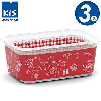 義大利KIS CHIC BOX-餐茶收納盒 1.5 L 3入