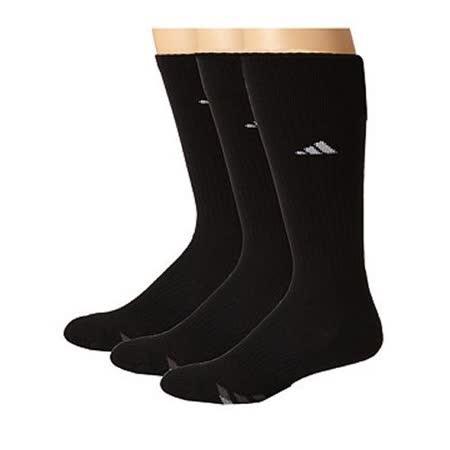 【Adidas】2016男時尚黑色中統襪3入組【預購】