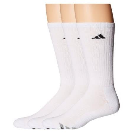 【Adidas】2016男時尚白色中統襪3入組【預購】