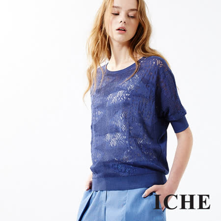 ICHE 衣哲 一體鉤織成形針織上衣