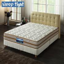 【Sleep tight】二線高蓬度/舒柔布/免翻面/蜂巢式獨立筒床墊(實惠型)-5尺雙人