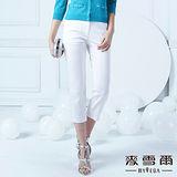 【麥雪爾】棉質鑽飾抗UV涼感七分褲
