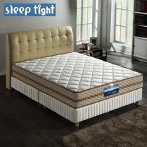 【Sleep tight】二線3M防潑水/防蹣抗菌/五段式獨立筒床墊(實惠型)-6尺雙人加大