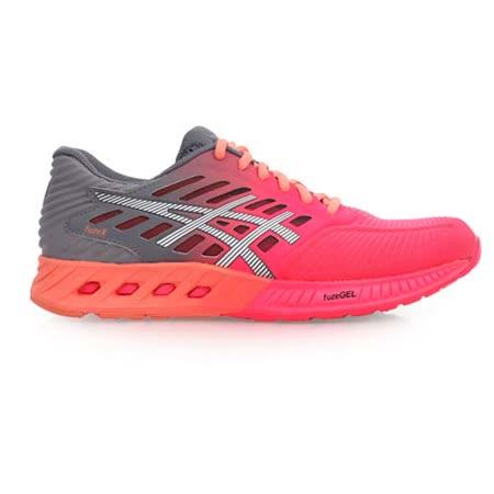 (女) ASICS FUZEX 慢跑鞋- 路跑 亞瑟士 健身 訓練 桃紅灰