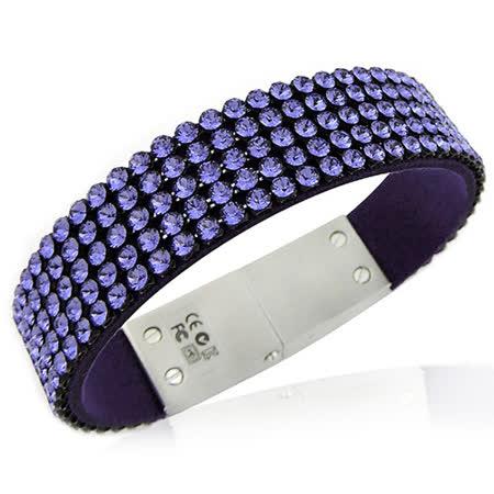 SWAROVSKI 水晶鑲嵌USB手鏈/手環-紫色【8G】