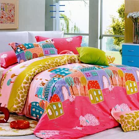 【鄉村生活】加大純棉四件式被套床包組