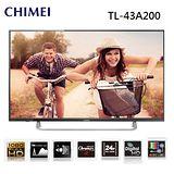 贈送HDMI線2M+視訊盒 CHIMEI奇美43吋LED液晶顯示器TL-43A200(公司貨)